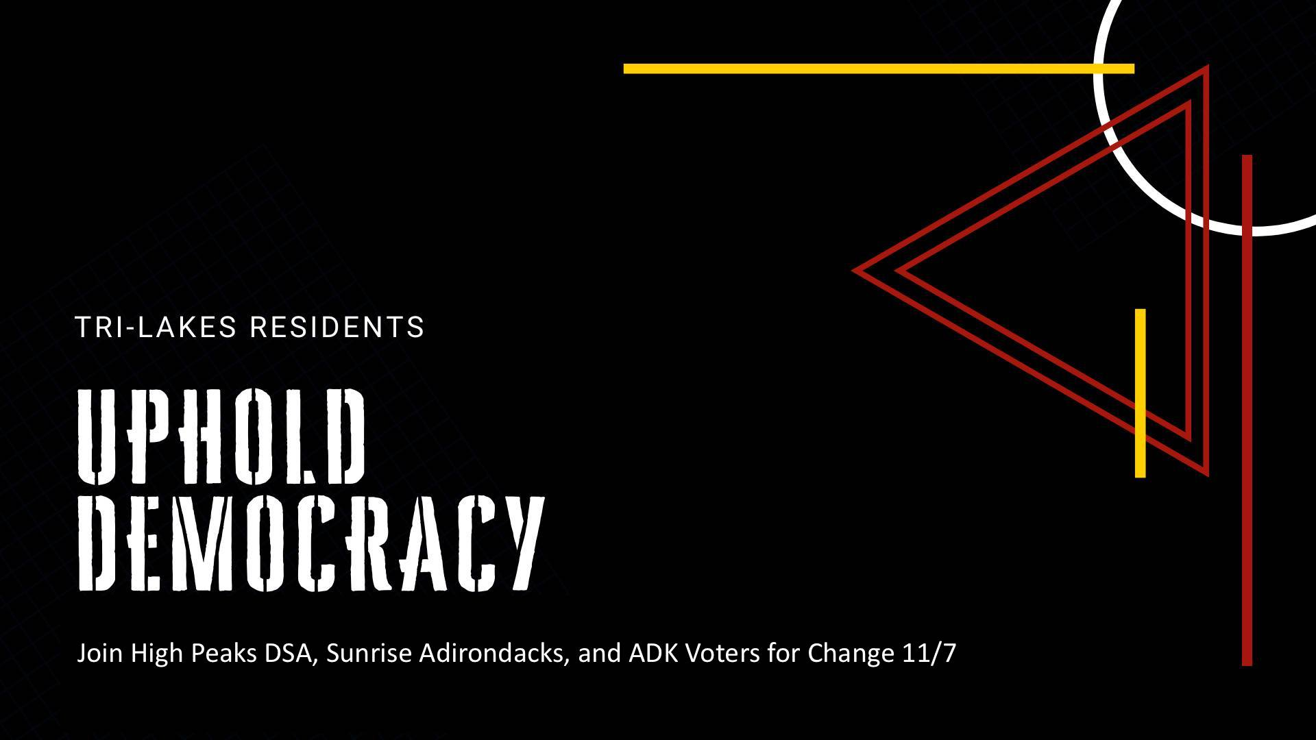 uphold democracy event